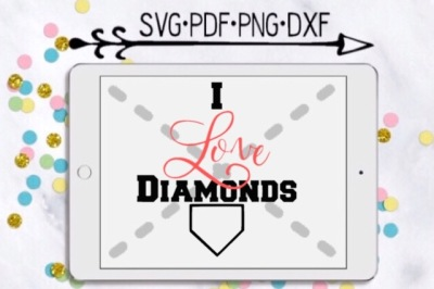 I Love Diamonds Cutting Design