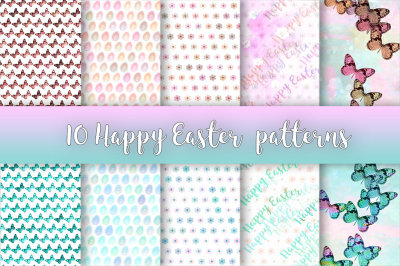 Happy Easter patterns