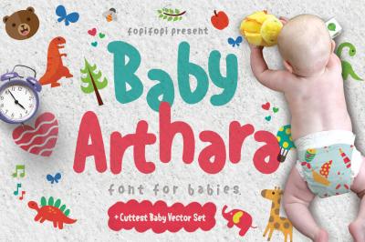 Baby Arthahara Typeface + Bonus