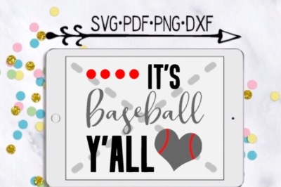 It's Baseball Y'all Cutting Design