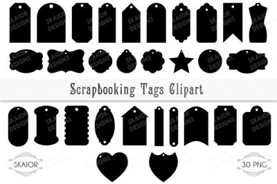 Scrapbooking Tags and Labels Clipart