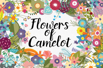 Flowers of Camelot - 130 Clip Art Elements