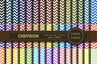Chevron digital paper - 45 pack