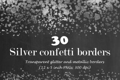 Silver Confetti borders