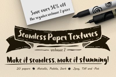 Seamless Paper Textures Vol. 2
