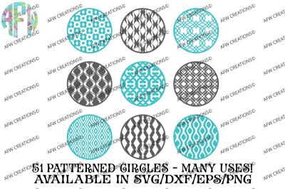 Ultimate Pattern Circles Bundle - 51 Circles - SVG, DXF, EPS Digital Cut Files