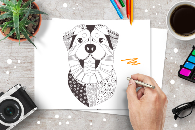 Coloring pages. Dogs