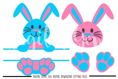 Split Rabbit, Face, Feet SVG / DXF / EPS / PNG Files