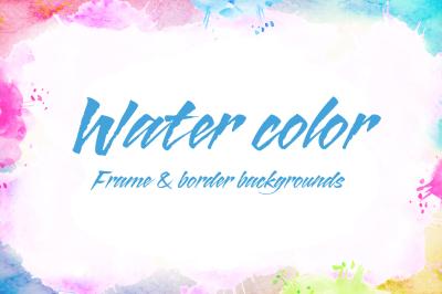 Water color frame & border backgrounds