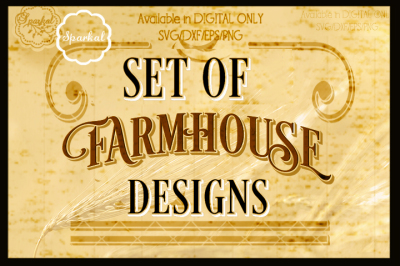 A SET of 7 FARMHOUSE Designs for Stencil Making ~ SVG Cut Files