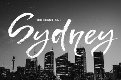 Sydney - brush font