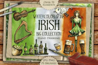 Big Irish Watercolor & Ink Set