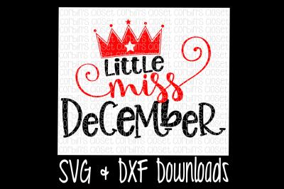 Little Miss December Cut File