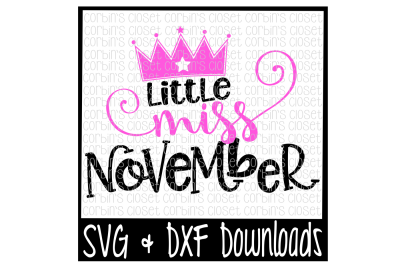 Little Miss November Cut File