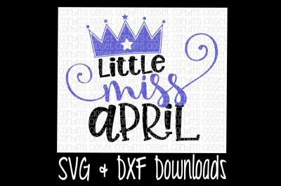 Little Miss April Cut File
