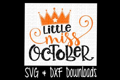 Little Miss October Cut File