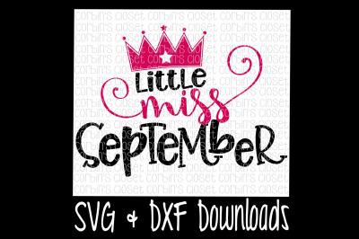 Little Miss September Cut File