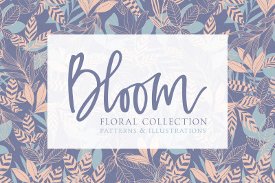 Bloom Floral Pattern and Vector Collection