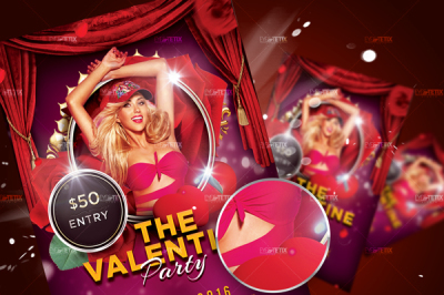 The Valentine Party Flyer