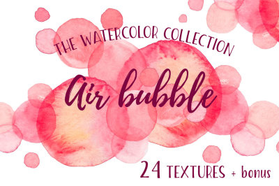 Air Bubble watercolor collection