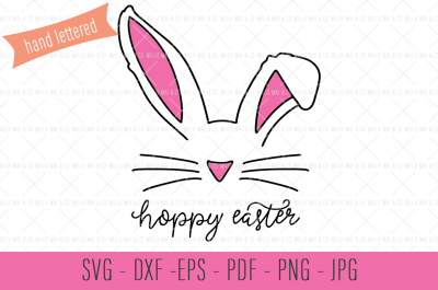 Hoppy Easter SVG, Bunny Ears SVG