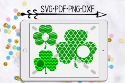 Shamrock Monogram Cutting Design