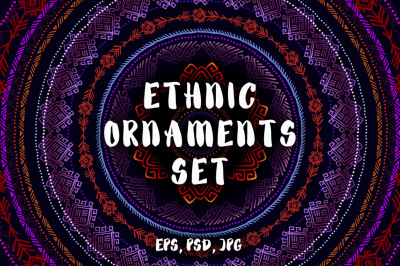 Ethnic Ornaments Set