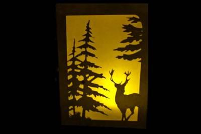 Forest Paper Lantern SVG