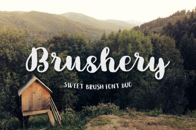Brushery Font Duo