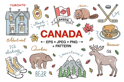 Canada Hand Drawn Illustrations