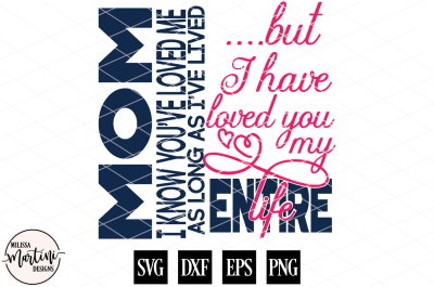 Mom I Know You've Loved Me Mother's Day Sign
