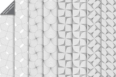 Linear geometrical seamless patterns