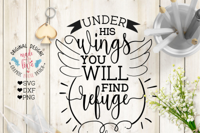 Under His Wings You will Find Refuge Cutting File