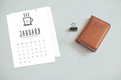 Printable Calendar 2017 - 2018