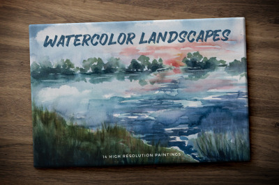 Hand Painted Watercolor Landscapes Volume 1