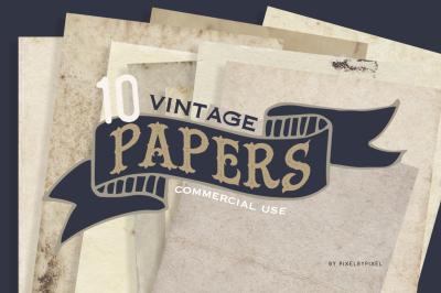 10 Vintage Paper Textures