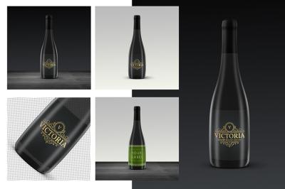 Wine Label Bottle