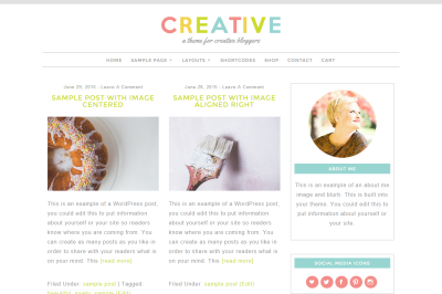 Creative - WordPress Theme
