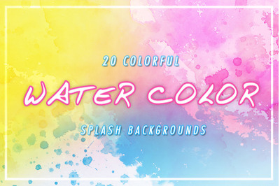 20 water color splash backgrounds