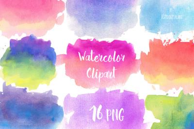 Watercolor Clip Art Watercolor Splotches