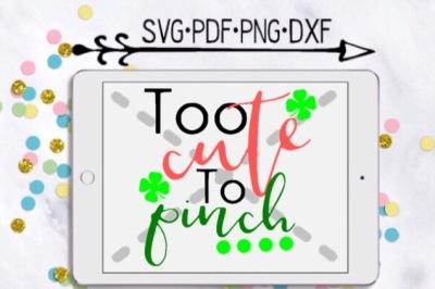 Too Cute To Pinch Cut Design