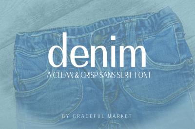 Denim - Sleek Sans Serif Font