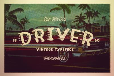 DRIVER • Retro action typeface