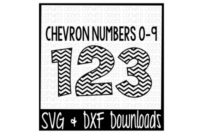 Chevron Numbers SVG * Chevron Pattern Cut File