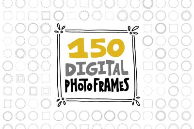 150 Digital Frames (EPS, PNG)