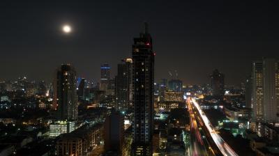 Bangkok cityscape at night, Thailand