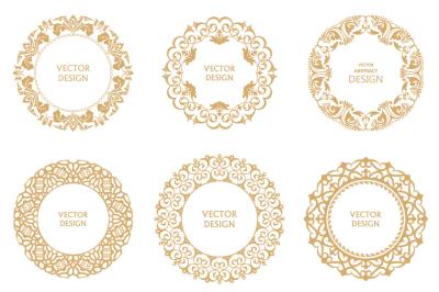Monogram circular frames