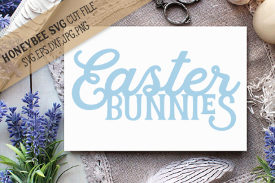 Easter Bunnies Silhouette cut file