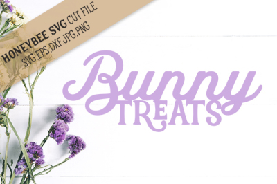 Bunny Treats Silhouette cut file