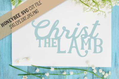 Christ The Lamb Easter cut file
